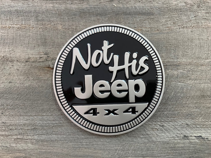 Badge - Not His Jeep (Black)