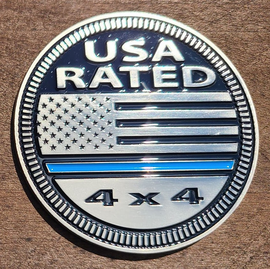Badge - USA Thin Blue Line Rated