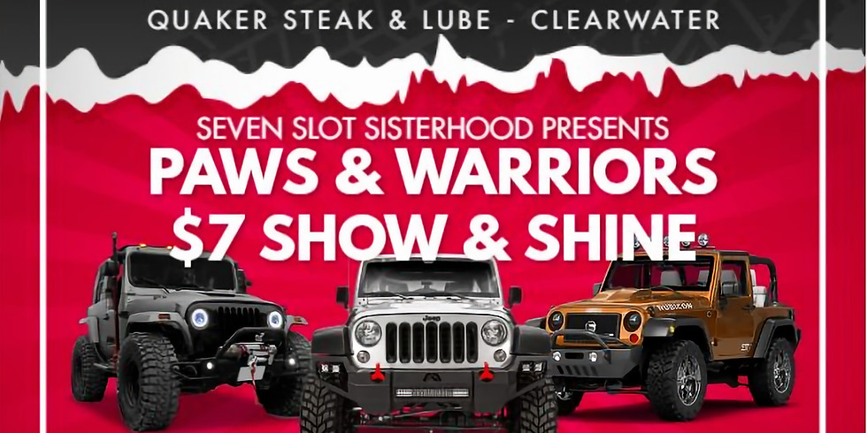 Paws & Warriors $7 Jeep Show and Shine