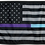 Thumbnail: ★USA Subdued Thin Purple-Teal Line Flag★