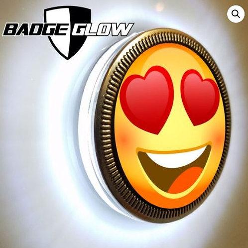 Badge Glow - White