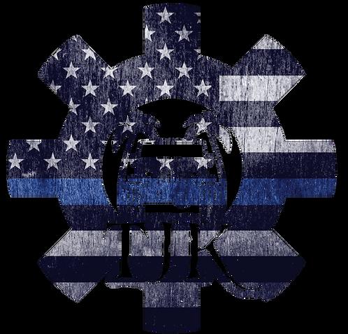 TJK Cog -Thin Blue Line Print
