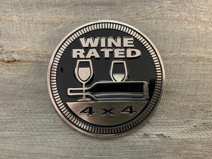 Badge - Wine Rated (Black)