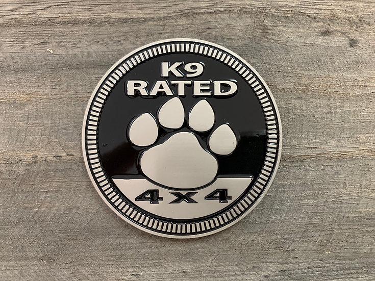 Badge - K9 Rated (Black)