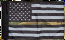 ★USA Subdued Thin Camo Line Flag★
