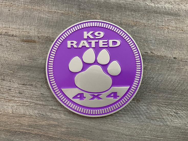 Badge - K9 Rated (Purple)
