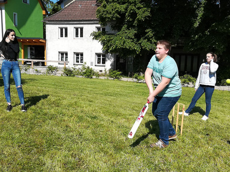 Playing cricket is so much fun