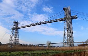 le pont transbordeur du martrou en travaux