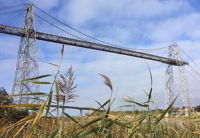 pont transbordeur vu de la berge d'échillais en 2016