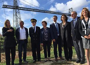 ouverture du chantier du pont transbordeur avec la ministre de la culture