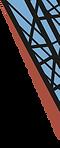 logo bleu et orange structure en croisillon du pont Transbordeur