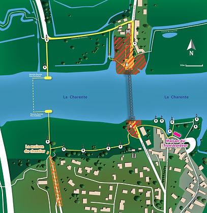 plan du situation pont transbordeur rochefort échillais