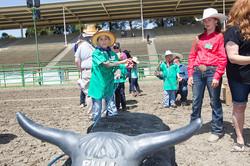 Lil' Pardner Roping the Steer!