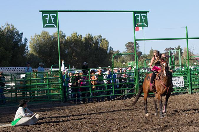 Alyssa in the Cowhide Race