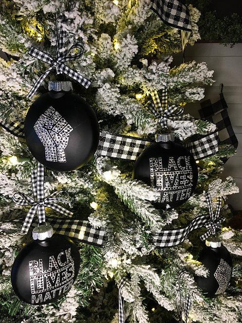 Black Lives Matter Christmas Ornaments