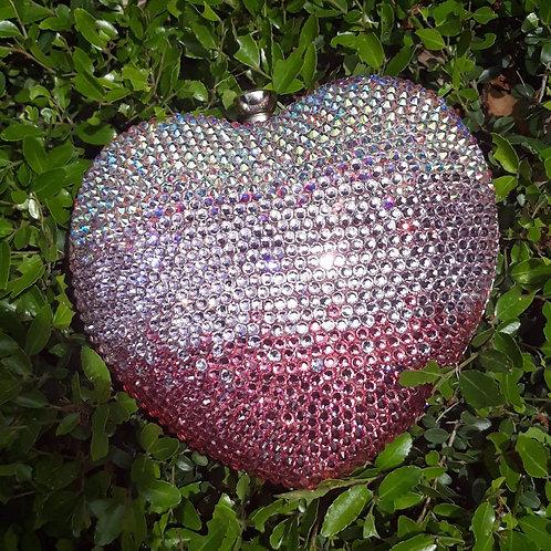 Pink Ombre' Heart clutch purse