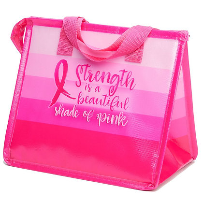 Strength Is A Beautiful Shade Of Pink - Eco-Lunch Bag