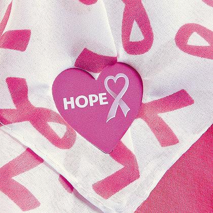 Pink Awareness Ribbon Shirt Clips