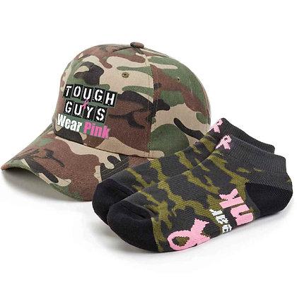 Tough Guys Wear Pink Baseball Cap & Socks Combo