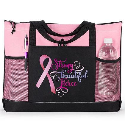 Strong, Beautiful, Fierce Moreno Multi-Pocket Tote Bag