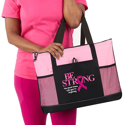 Be Strong, You Never Know Who You're Inspiring Moreno Multi-Pocket Tote Bag