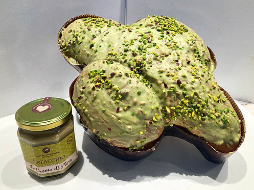 Colomba pistacchio con crema in vasetto