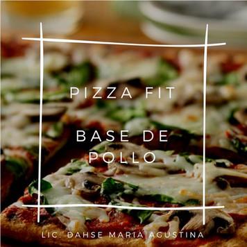 PIZZA FIT con BASE DE POLLO