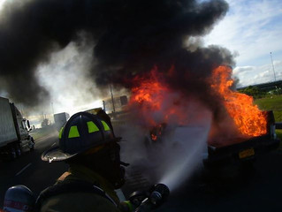 ENGINE 12 HANDLES CAR FIRE ON RT. 695