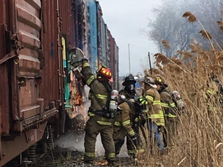TRAIN FIRE | BRIDGE ST. | SOLVAY
