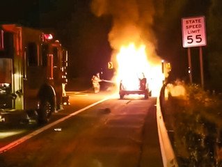 Vehicle Fire | Route 5 | Geddes