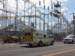 RESCUE 11 & ENGINE 21 RESPOND TO RIDE ACCIDENT AT NYS FAIR