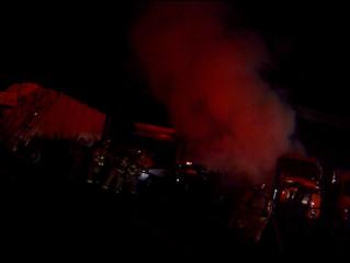 Truck Fire | Geddes Highway Dept. | Geddes