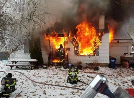 CAR 3, LADDER AND ENGINE RESPOND TO FATAL FAIRMOUNT FIRE