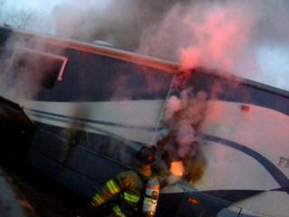 Motor Home Fire | Van Buren Rd. | Warners