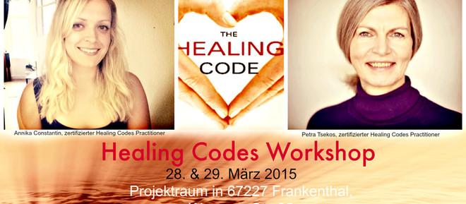 Healing Codes Workshop am 28. und 29. März in Frankthal