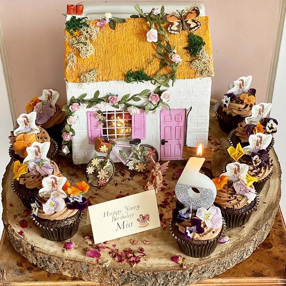 Fairy House Cakes! -(with Chocolate & Fl