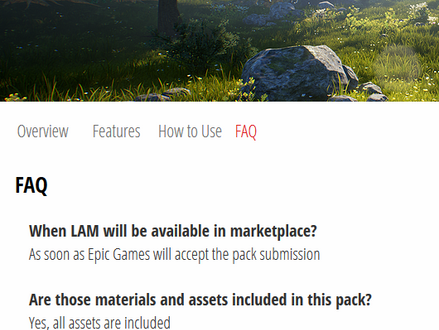 Added FAQ section for LAM!