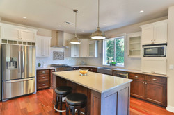 Nordic Homes Stained Alder and White Kitchen