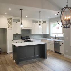 Nordic Homes White Kitchen with Dark Island