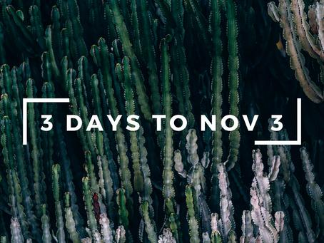 3 Days to Nov 3