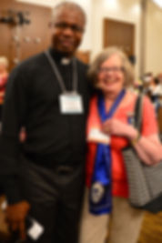 Janet and Fr at National convention 2018