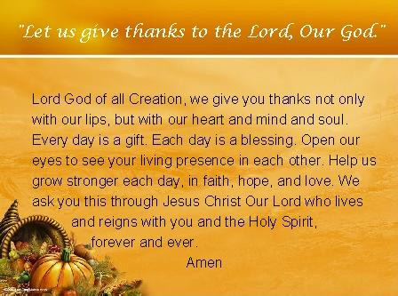 Some Thanksgiving Reflections
