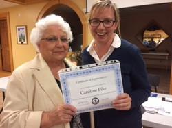 Congratulations Carolyn!