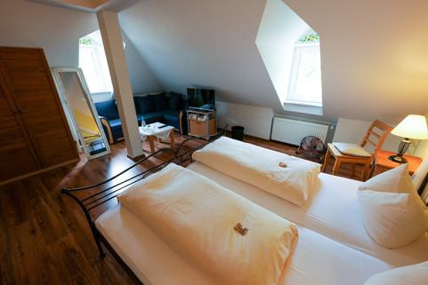 Zimmer im Dachgeschoss der Alten Bürgermeisterei