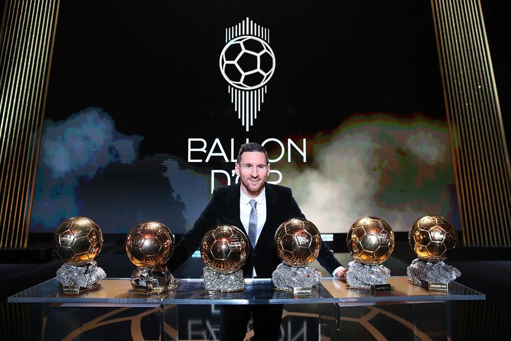 Lionel Messi vĩ đại với 6 Quả bóng vàng. |JP88