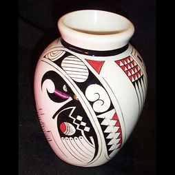 A vase in a style inspired by the artists of Mata Ortix. Click to see similar works.