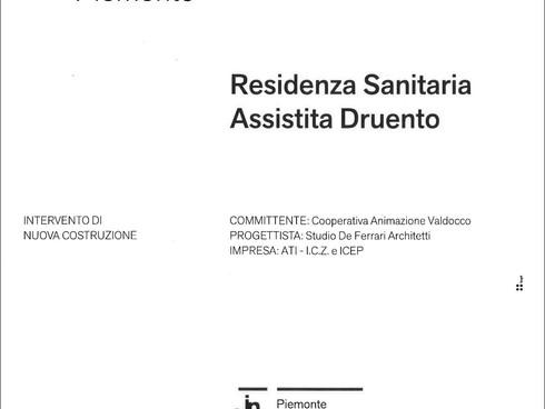 PREMIO INARCH 2020 - RSA DRUENTO