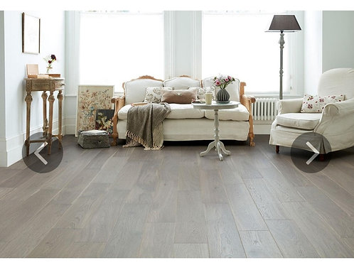Engineered European Rustic Oak Flooring 14mm x 180mm Paloma Grey Lacquered