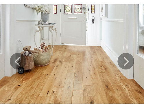 Engineered European Rustic Oak Flooring 14mm x 130mm Natural Lacquered
