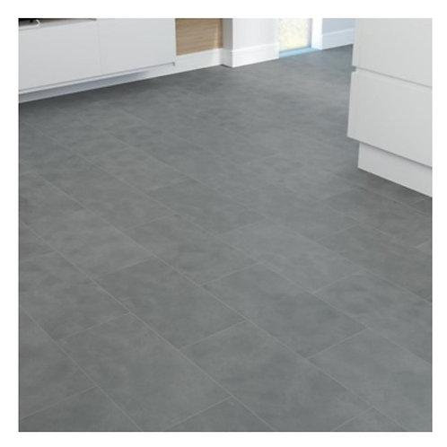 Grey stone tile floor